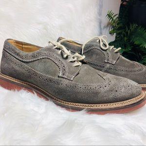 Mens suede wingtip shoes size 10